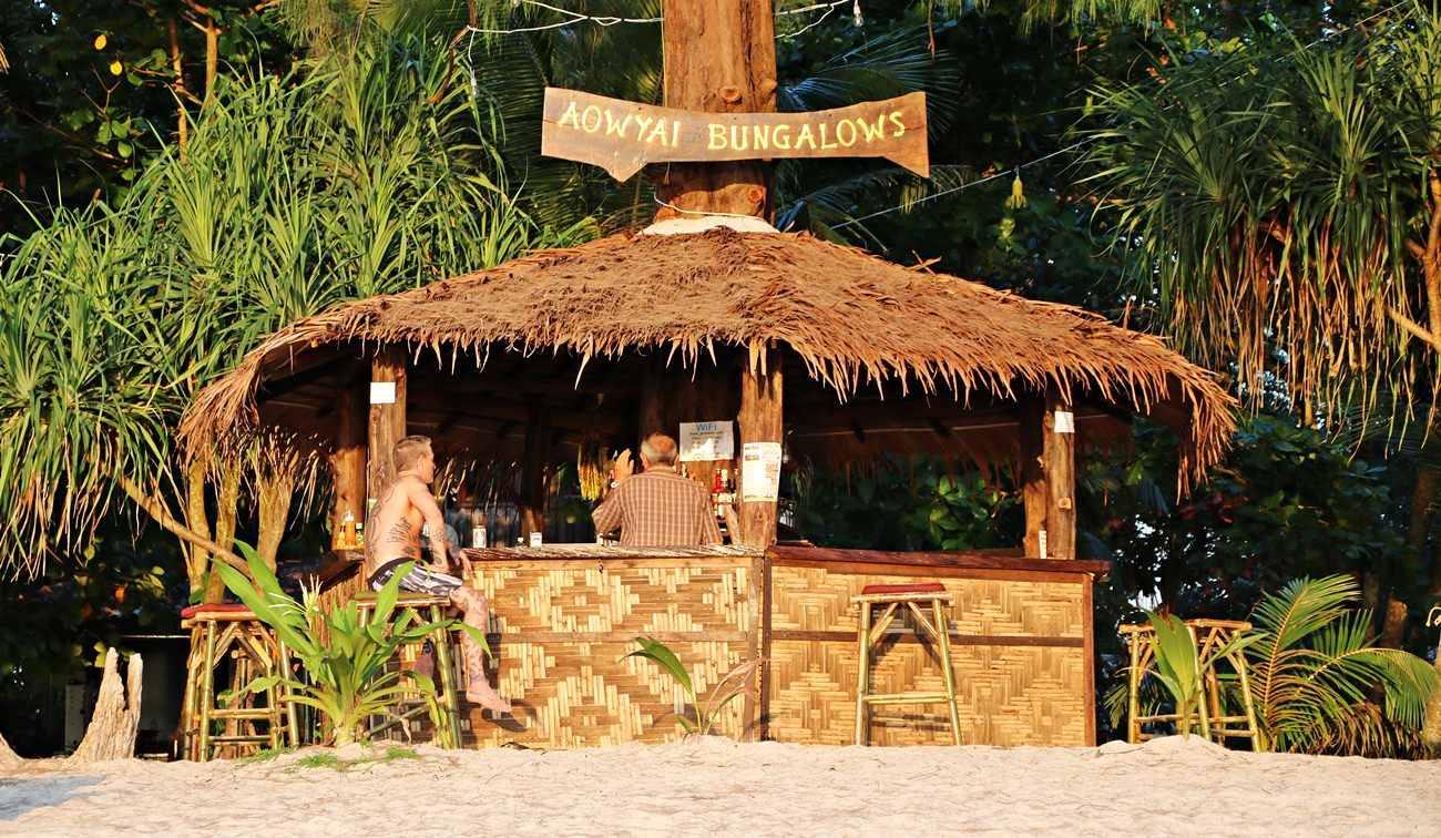 Koh Phayam bar na plaży