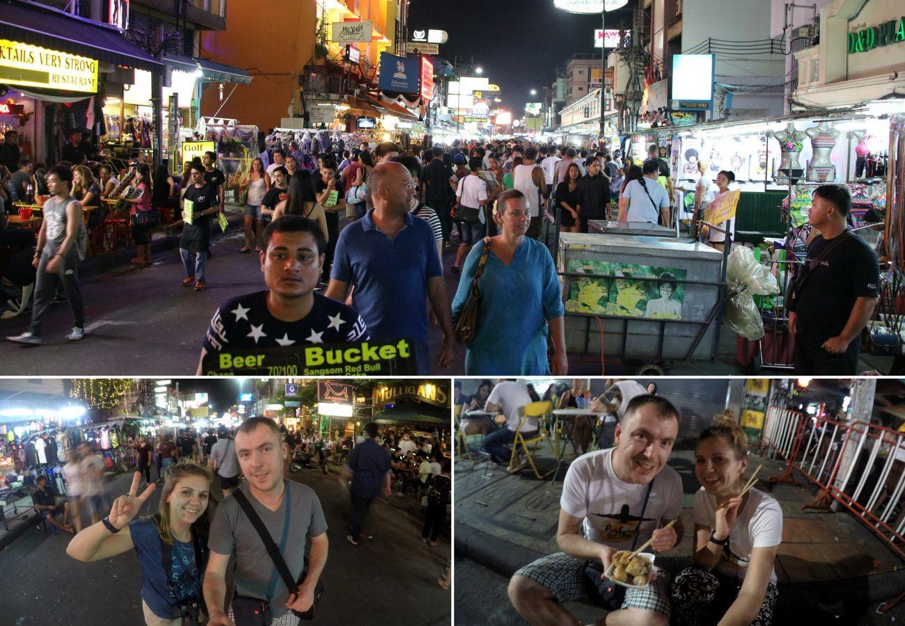 Khao San Road nocą
