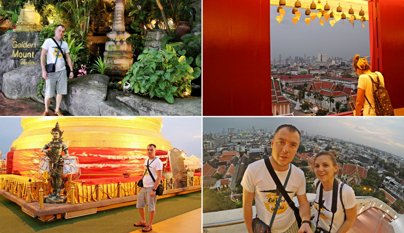 Bangkok świątynia na górze
