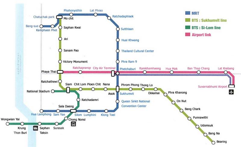 airport link bangkok mapa