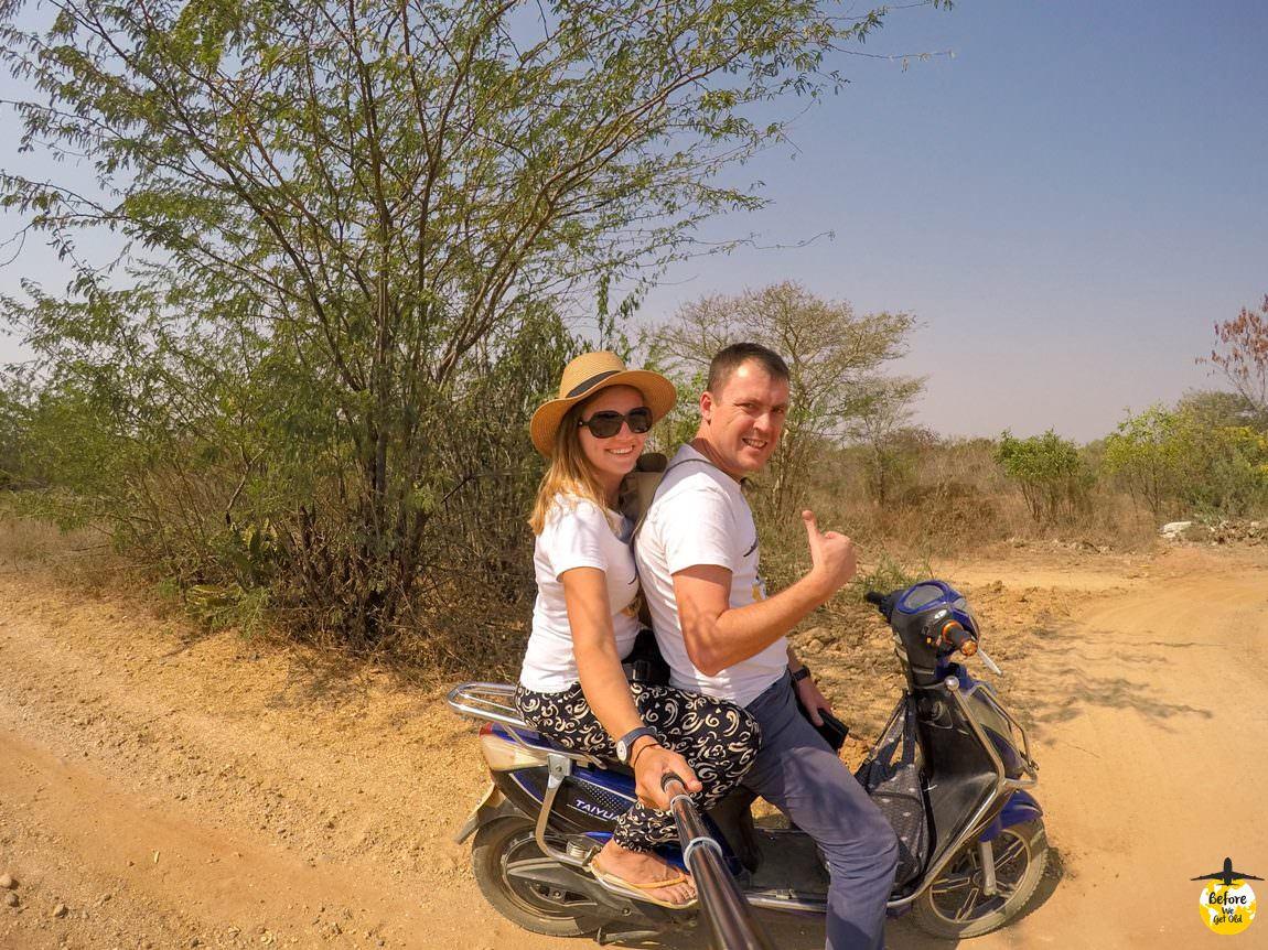 Bagan - zwiedzanie skuterem