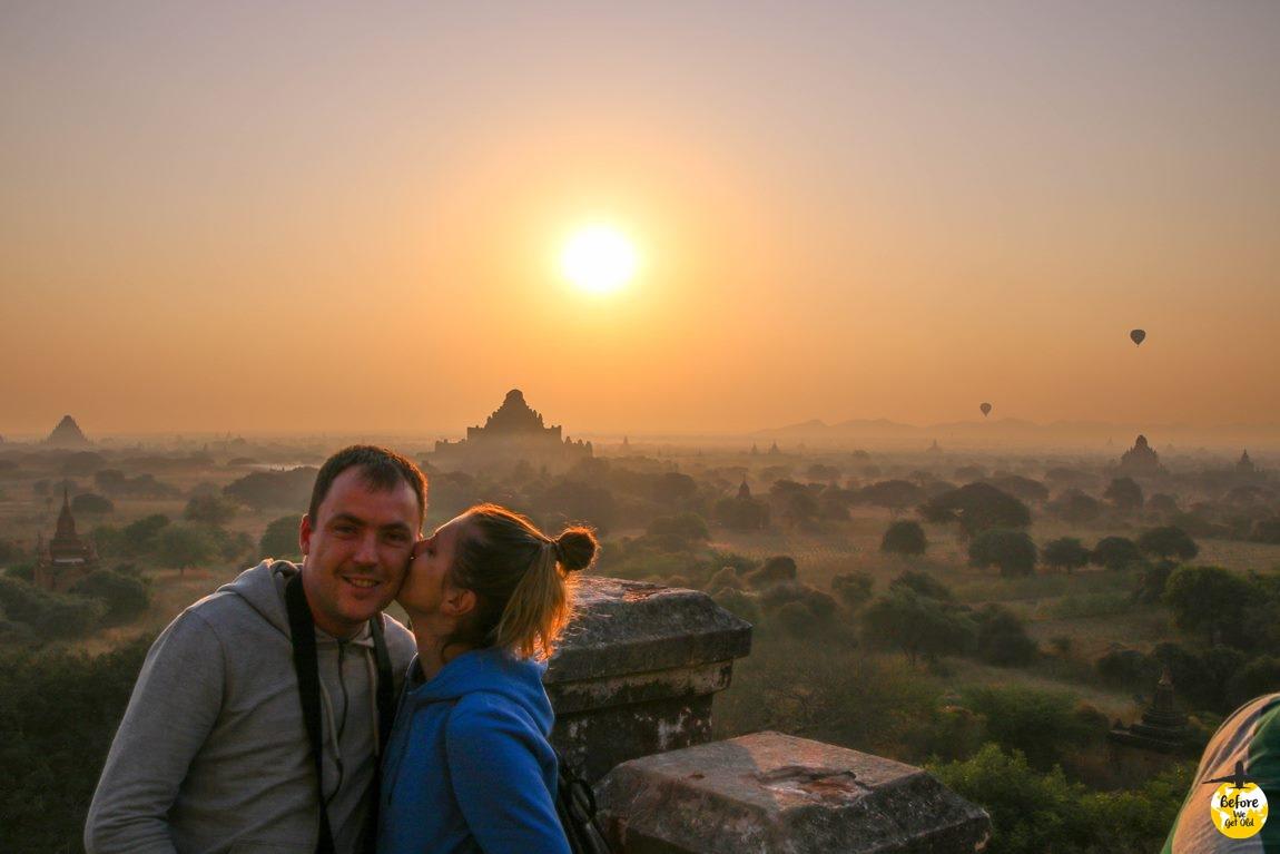 Bagan Birma wschód słońca