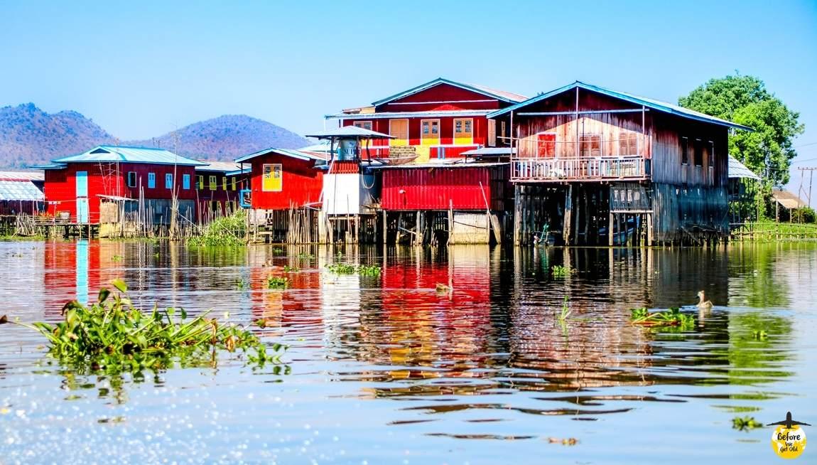 Jezioro Inle Lake domy na palach