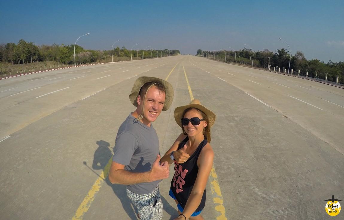 Stolica Mjanmy - autostrada - Naypyidaw