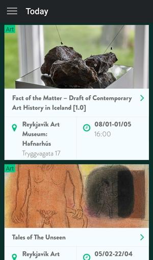 Islandia aplikacje wydarzenia kulturalne