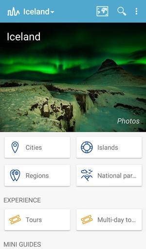 Islandia aplikacje przewodnik