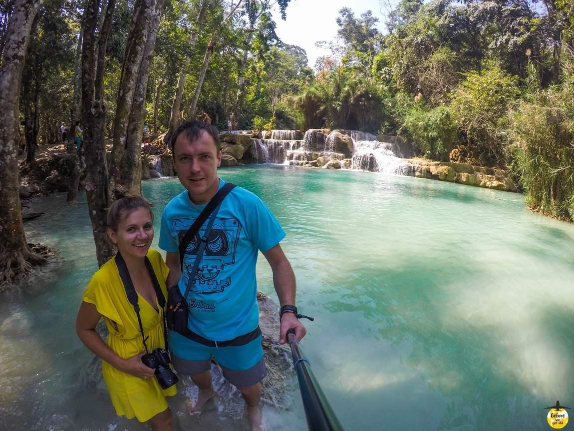 Azja top 10 miejsc Kuang Si Laos wodospady