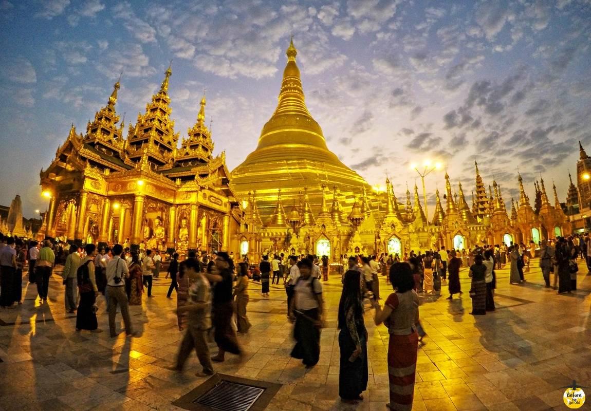 Shwedagon Pagoda Birma
