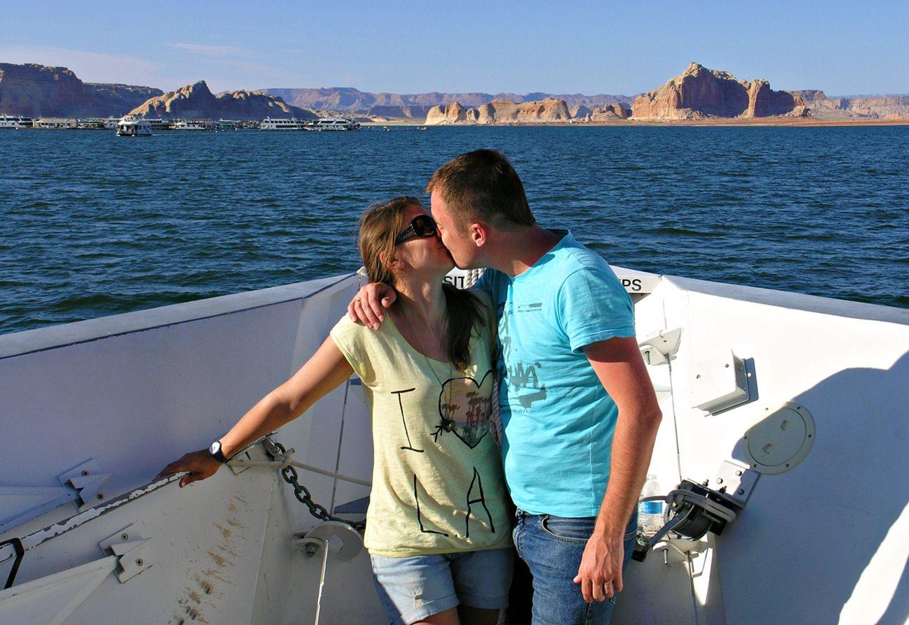 rejs statkiem po jeziorze Powell