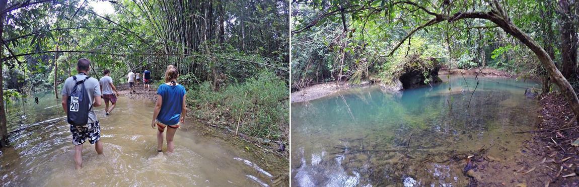 Khao Sok Tajlandia przeprawa przez dżunglę