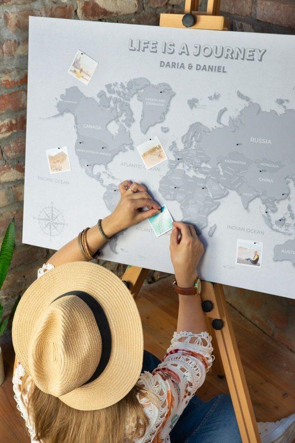 mapa prezent dla podróżnika