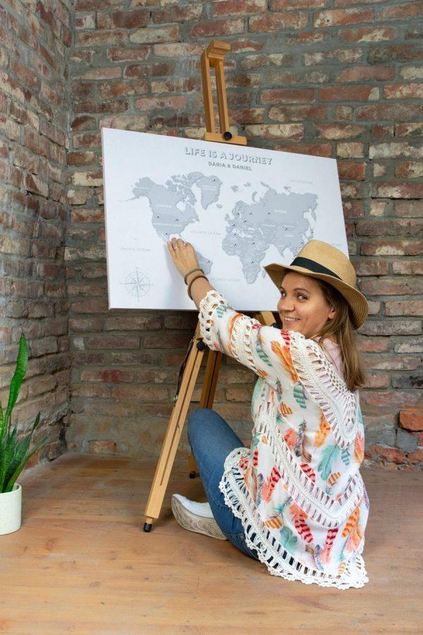 mapa prezent dla podróżniczki