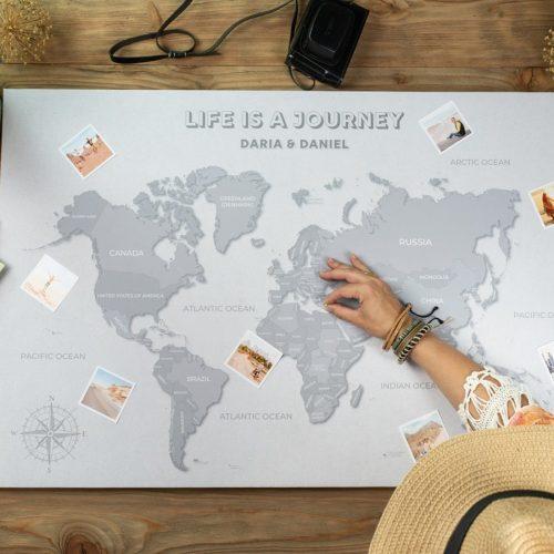 mapa świata z imionami loftowa