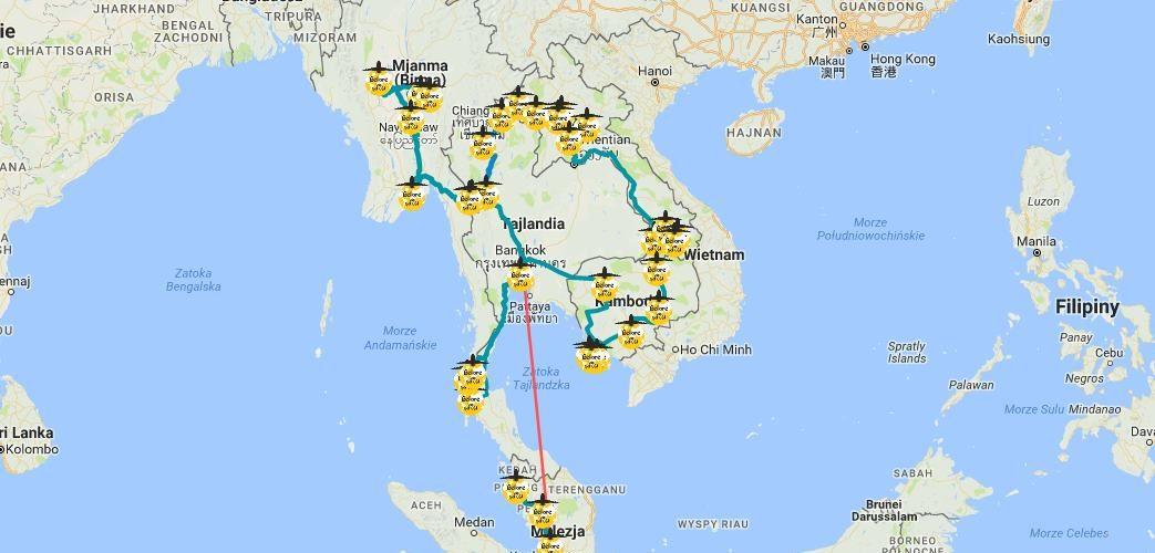 plan podróży po Azji