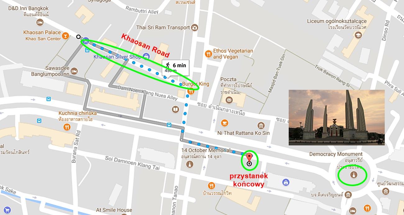 Khao San Road mapa