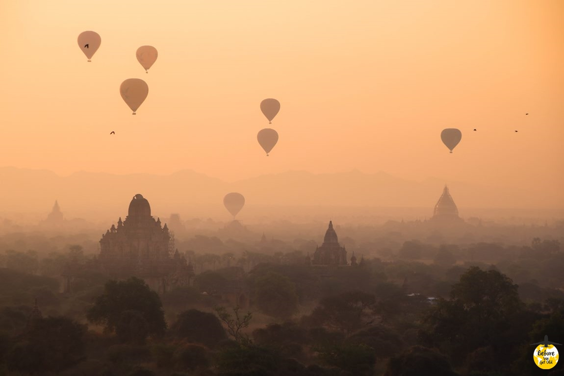 Bagan w Birmie lot balonem