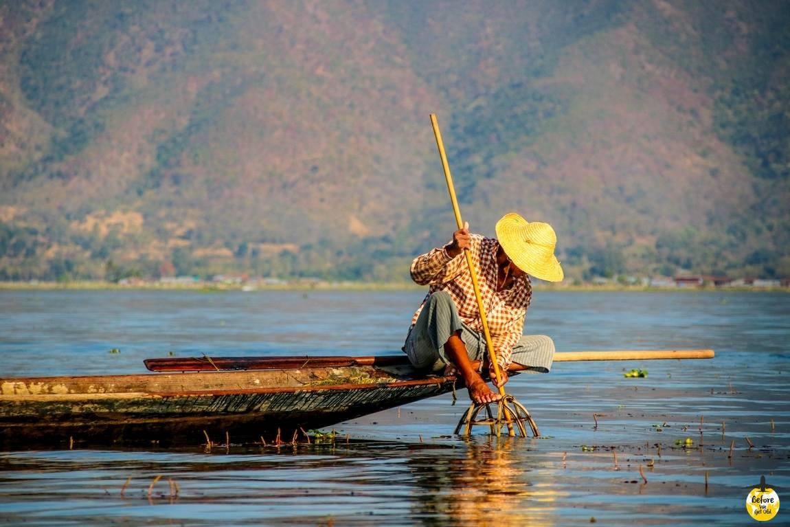 jezioro w Birmie Inle Lake