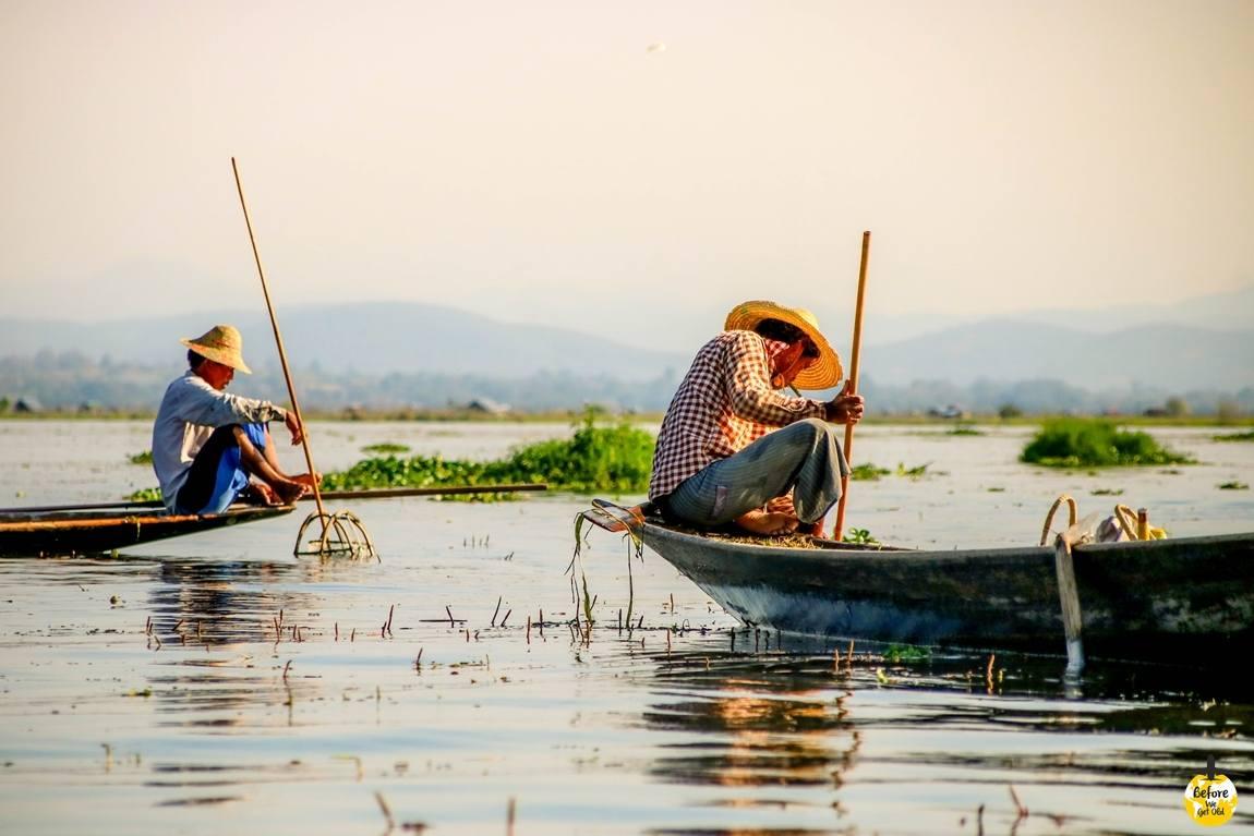rybacy z jeziora Inle Lake