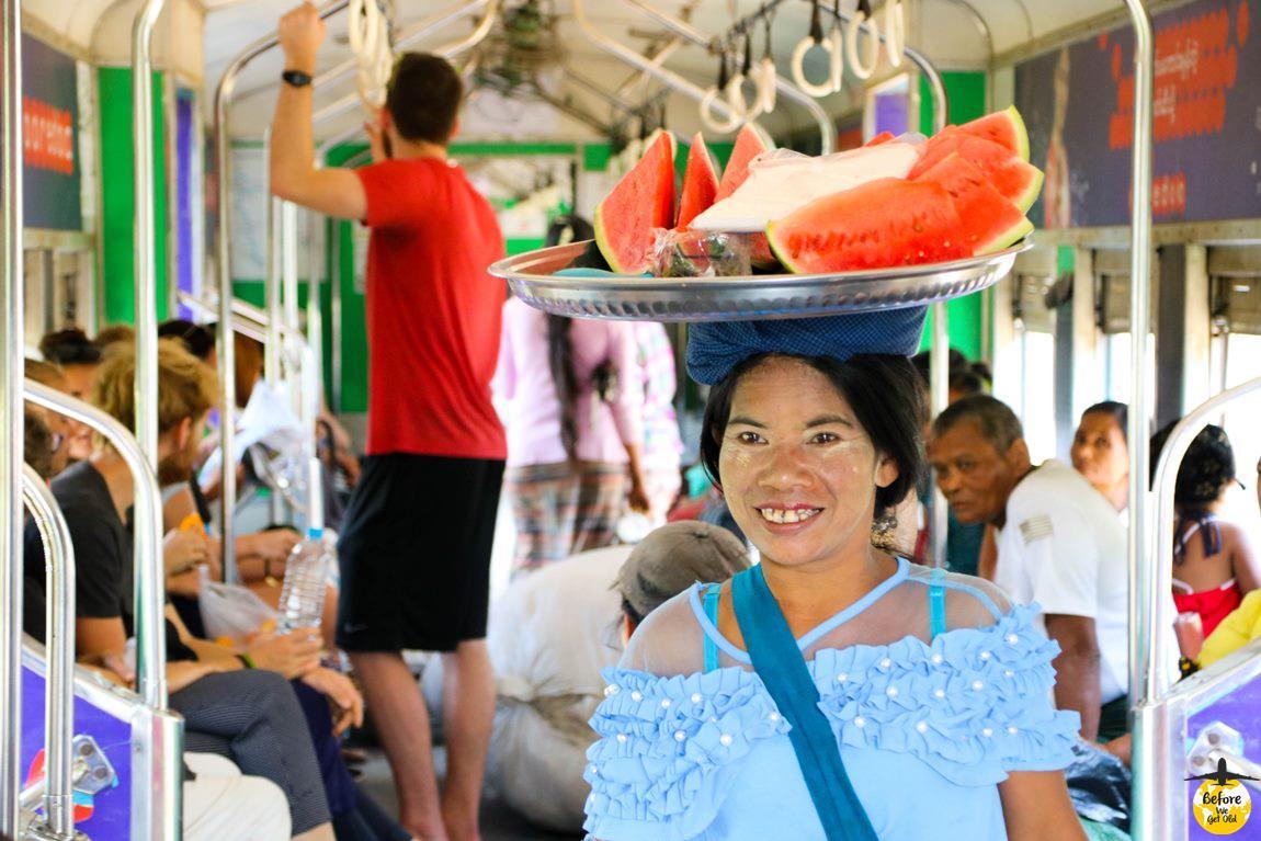 Yangon Birma pociąg