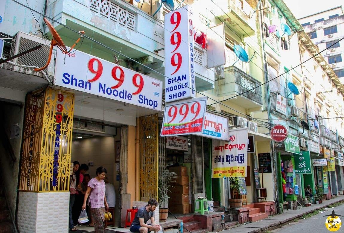 Yangon Birma gdzie zjeść