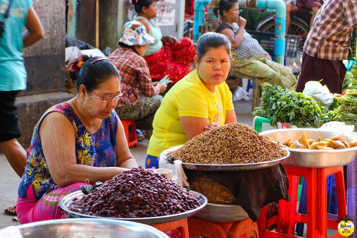 Yangon Birma jedzenie