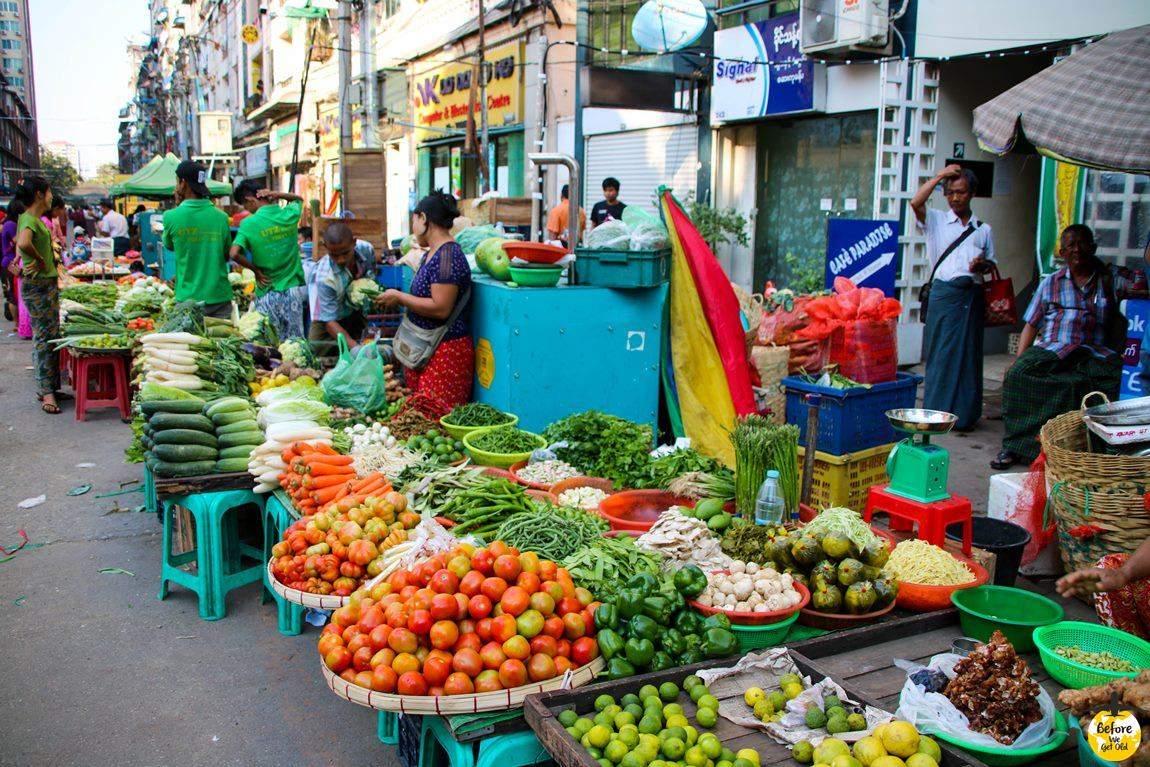Yangon Birma targ