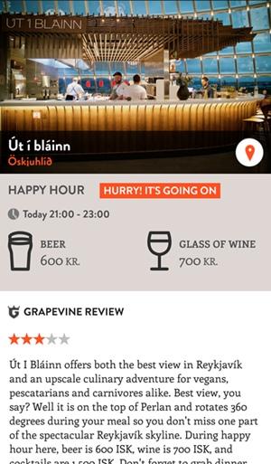 Islandia aplikacje happy hour