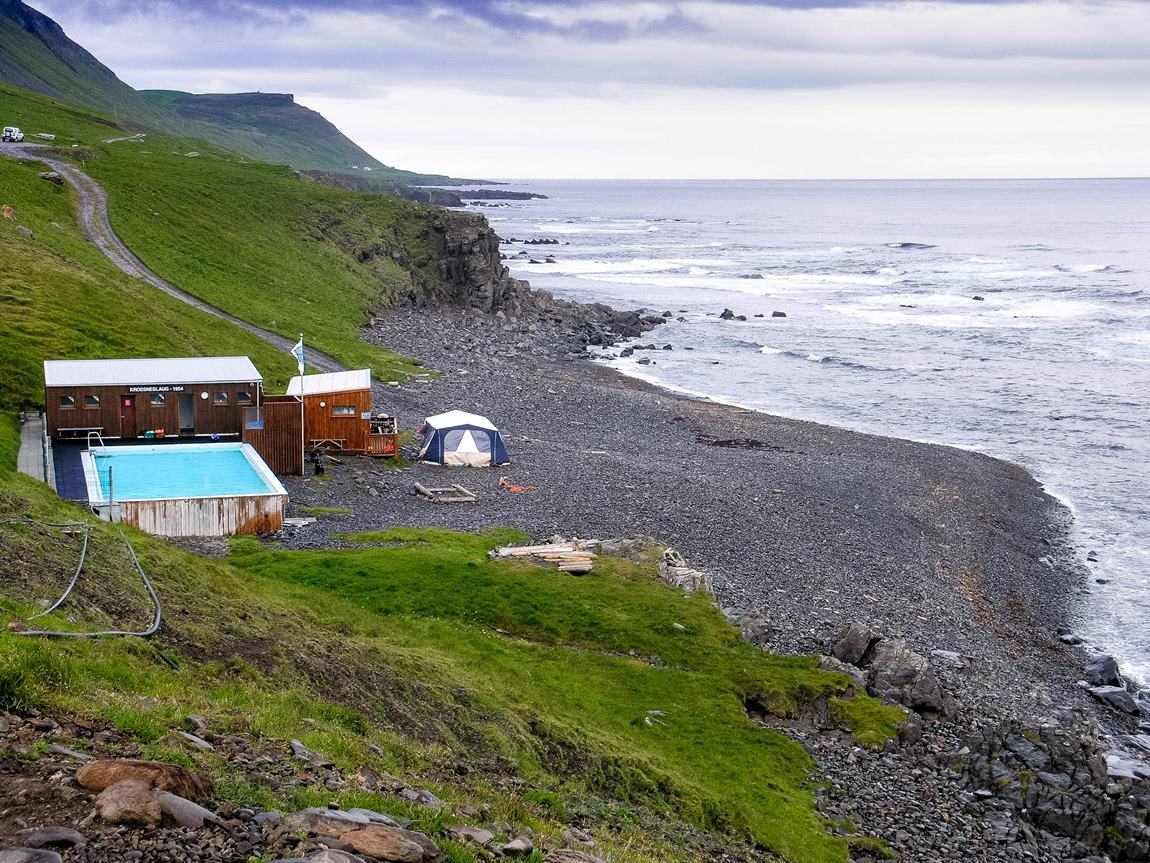 gorące źródła Islandii