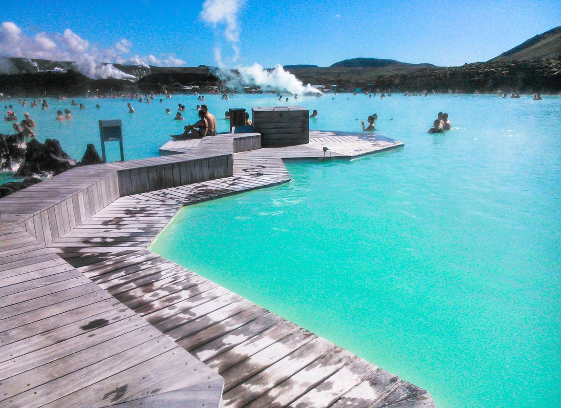 gorące źródła Islandii Blue Lagoon