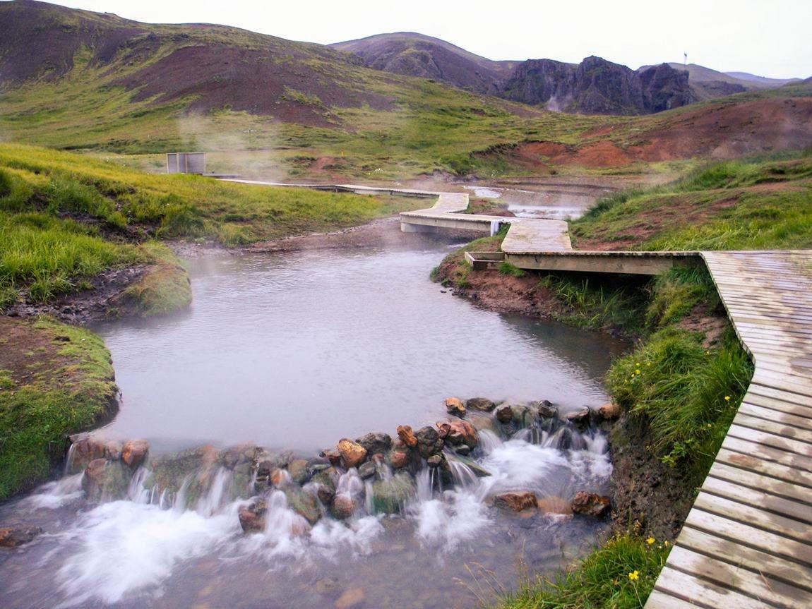 gorące źródła Islandii Hveragerdi