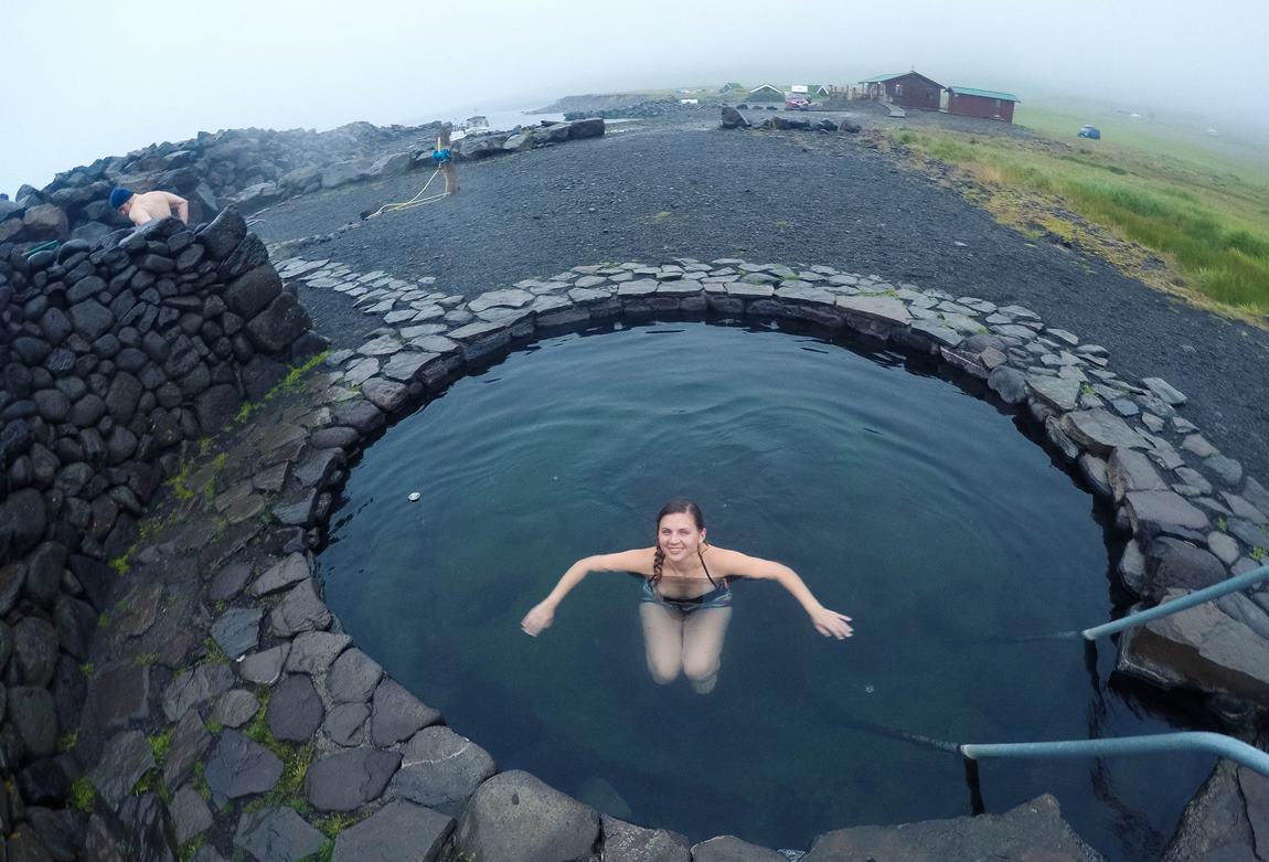 gorące źródła Islandii Grettislaug
