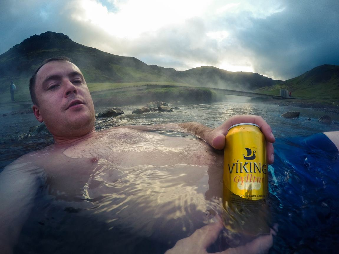 gorące źródła Islandii piwo Viking Hveragerdi