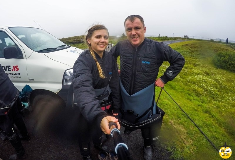 snorkeling w Islandii