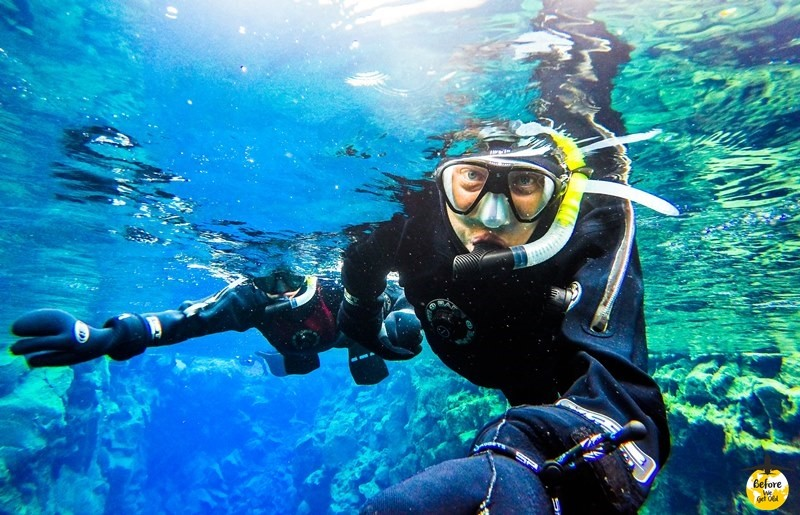 Silfra snorkeling