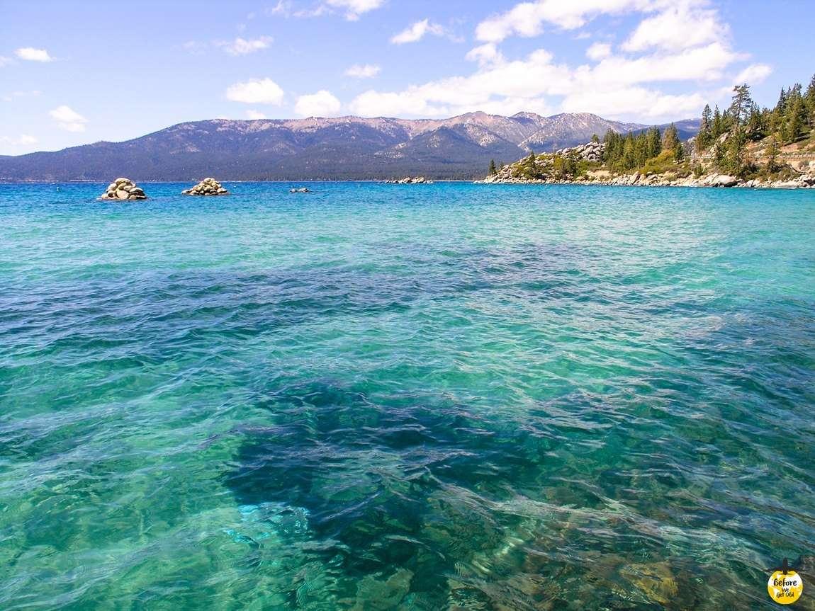 Tahoe Lake zachód USA