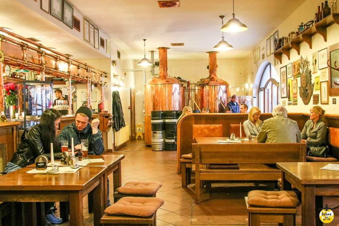 Praga w 3 dni piwo przy klasztorze