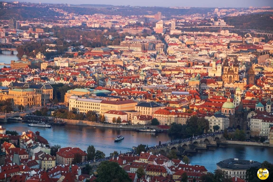 Praga wzgórze Petrin