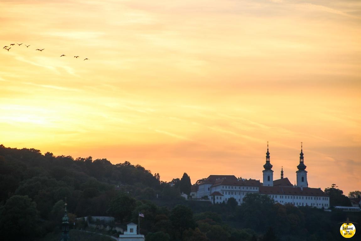 Praga zachód słońca