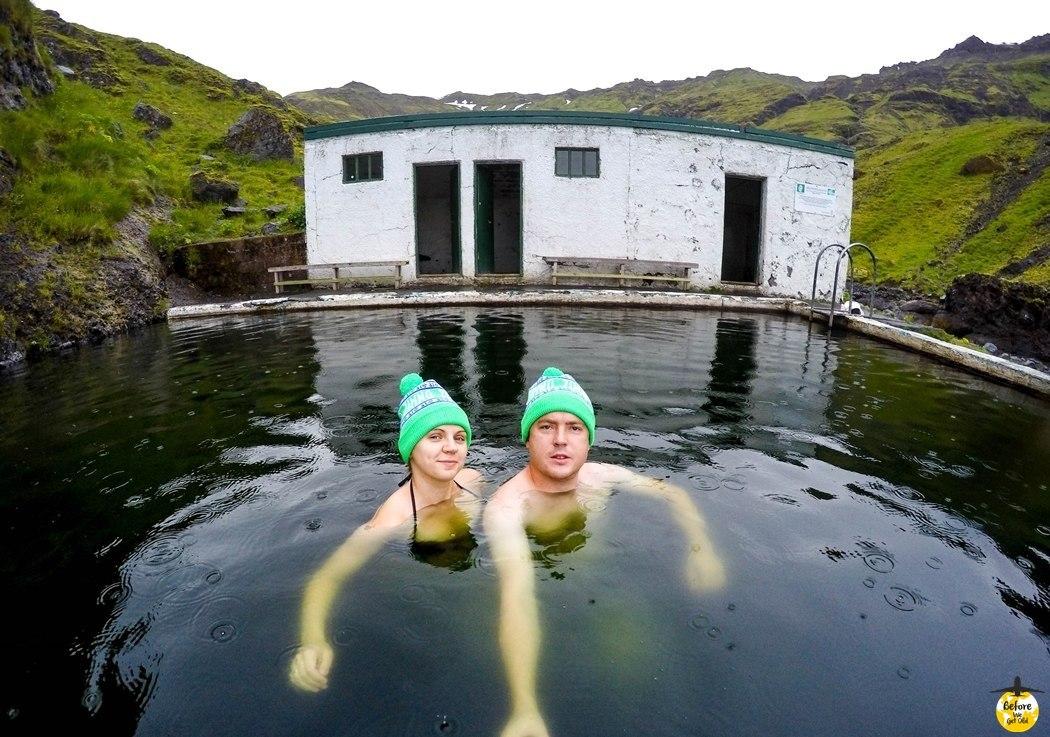 Islandia opuszczony basen gorący