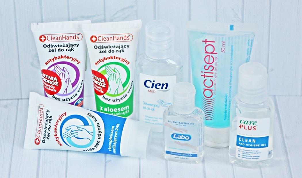 higiena w podróży żel dezynfekujący
