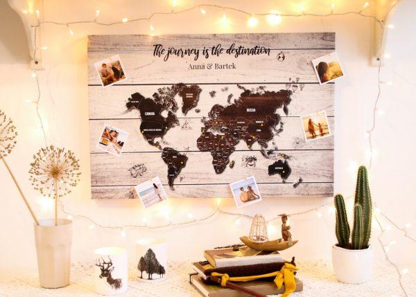 personalizowana mapa świata