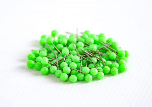 pinezki kulki zielone