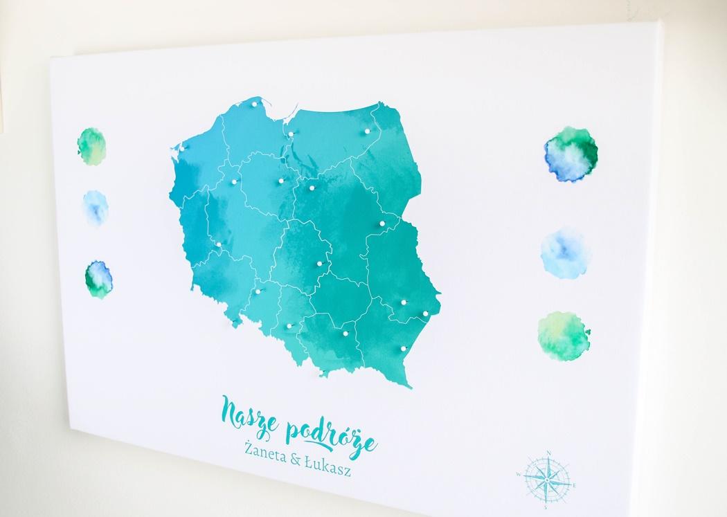 personalizowana mapa Polski