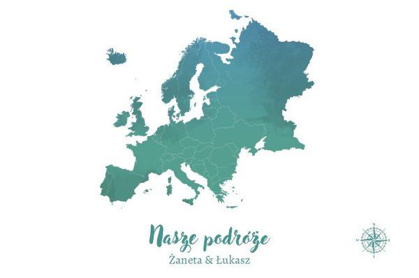 personalizowana mapa Europy