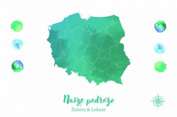 mapa polski prezent