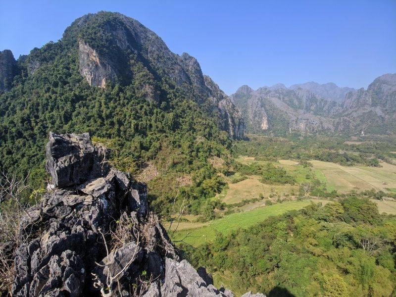 Vang Vieng punkty widokowe Pha Poak
