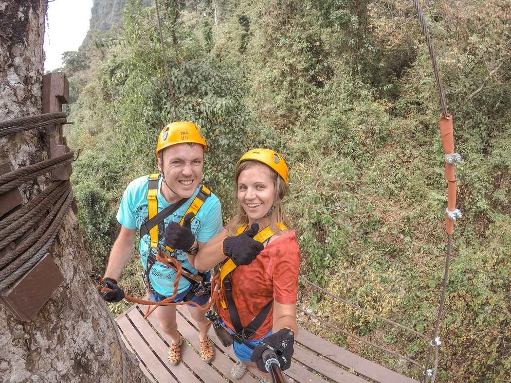 atrakcje Vang Vieng zip line