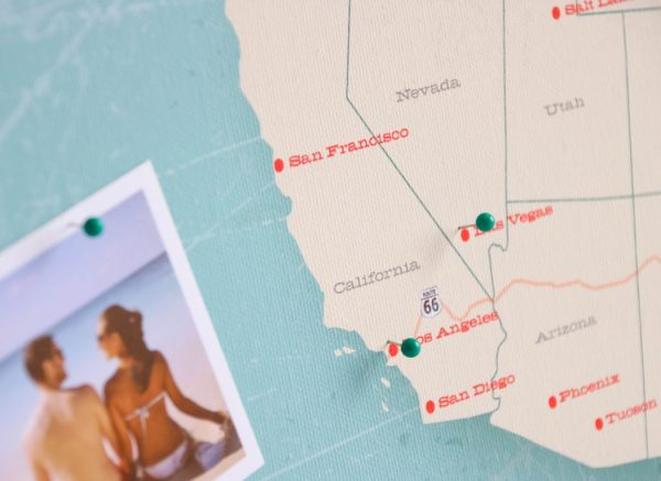 personalizowana mapa USA route 66