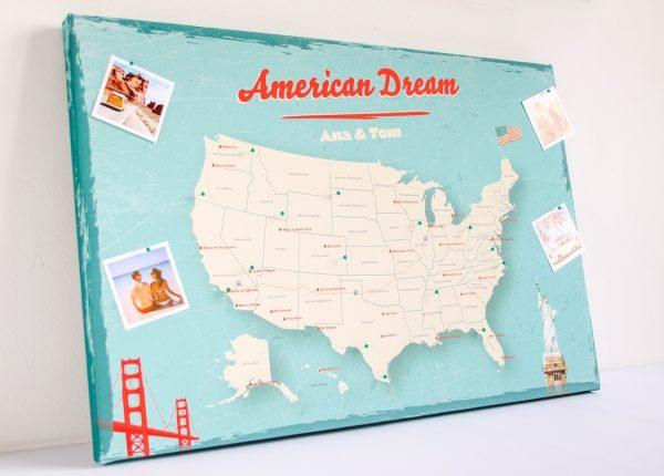 personalizowana mapa USA