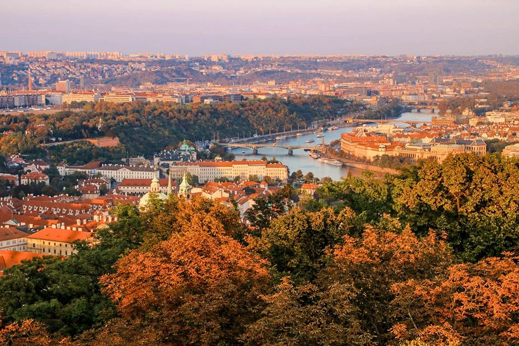Praga panorama miasta Wełtawa